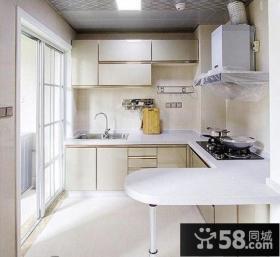 现代风格三居室厨房装修效果图
