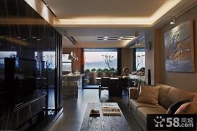 客厅瓷砖电视背景墙设计
