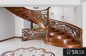 欧式实木楼梯装修
