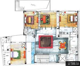 农村两层别墅户型图