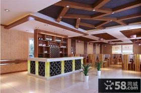 中式饭店吧台设计效果图
