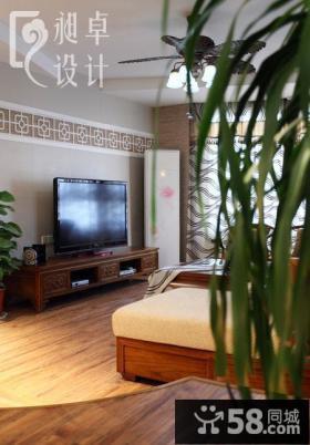 中式客厅电视背景墙装修设计图