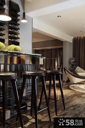 美式风格一居室酷感设计图