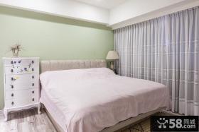 欧式风格主卧室落地窗帘效果图