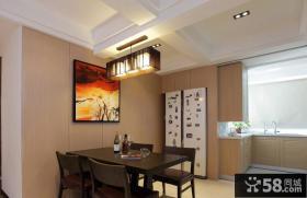 小餐厅背景墙装饰画图片