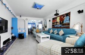 地中海设计客厅电视背景墙图片欣赏