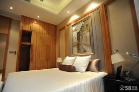 卧室床头背景墙装饰效果图片