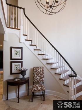 别墅室内楼梯扶手图片