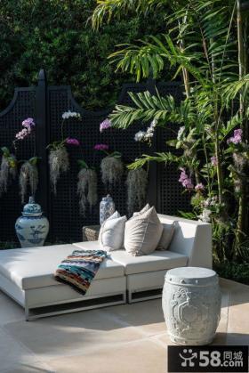 北欧风格露天阳台设计图片