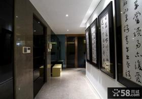 中式风格现代别墅过道装修效果图