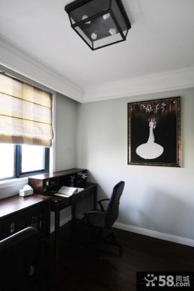 美式简装书房装饰画图片欣赏