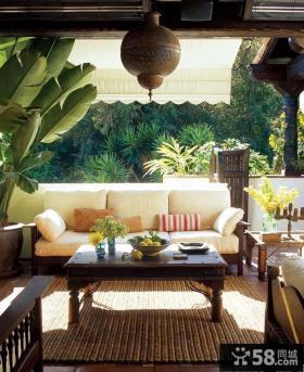 东南亚风格露天阳台装修效果图大全2014图片