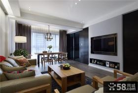 家居装修12平米客厅电视背景墙图