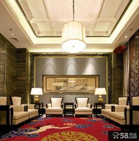 中式新古典风格客厅效果图