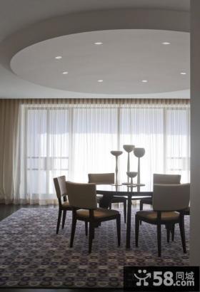 现代简约风格样板房餐厅吊顶效果图