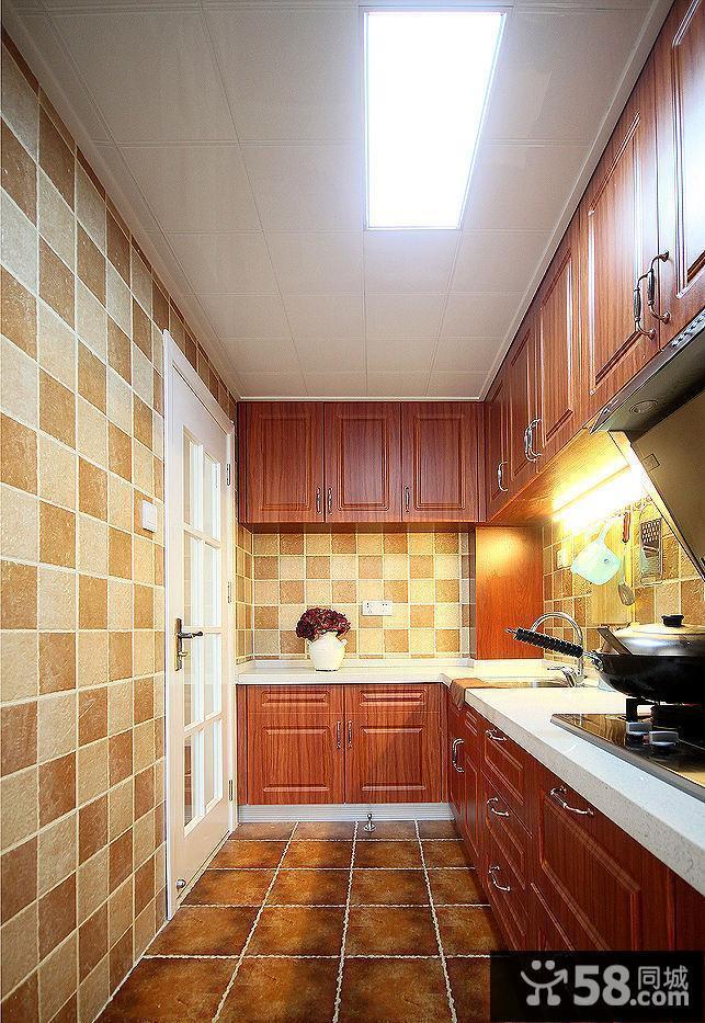 欧式田园风格厨房设计效果图