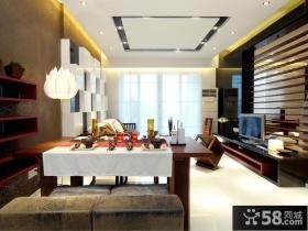 日式风格客厅餐厅装修效果图