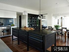 现代简约两室两厅厨房柜装修效果图