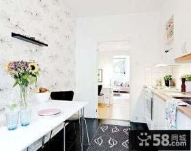 80平单身公寓客厅装修效果图大全2014图片