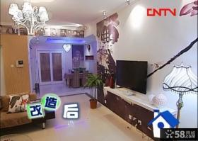 交换空间40平小户型现代风格客厅背景墙装修效果图