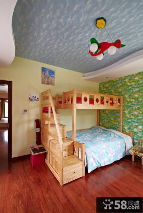 双人儿童房创意吊顶装修效果图
