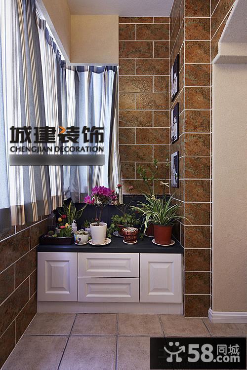 室内小阳台瓷砖装修效果图