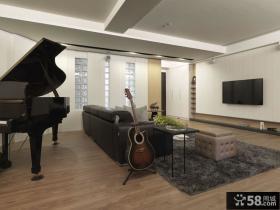 现代风格室内装修客厅电视背景墙设计图片大全