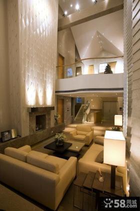 现代简约别墅挑高客厅装修效果图大全