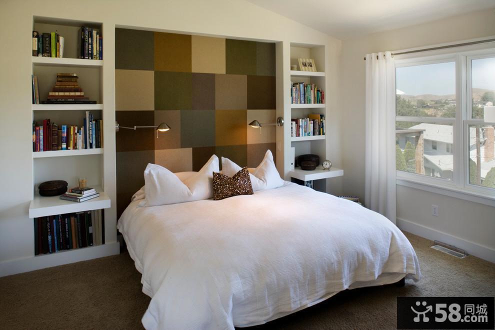 卧室床头背景墙装潢设计
