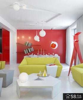 现代客厅餐厅一体化装修效果图大全2012图片 二室一厅装修案例