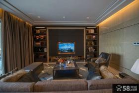 新古典风格家庭客厅电视背景墙图片