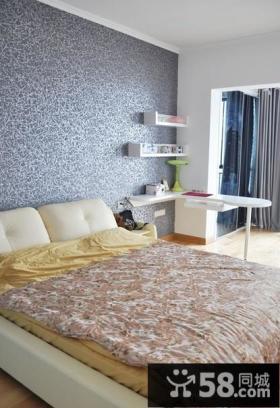 混搭风格二居卧室壁纸图片