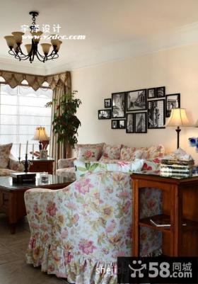 美式田园客厅沙发设计图
