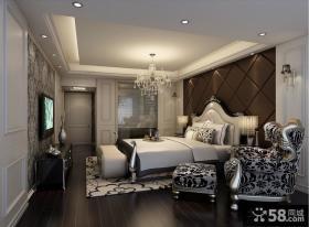 经典豪华的欧式风格卧室背景墙装修效果图大全2013图片