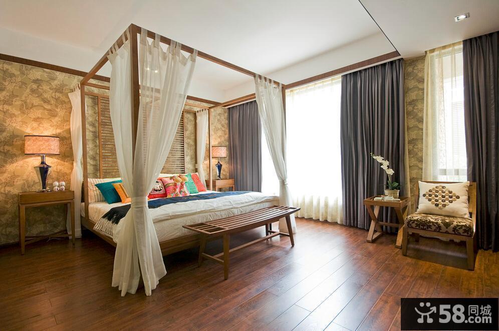 自然东南亚风格卧室装修案例