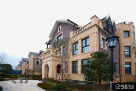 美式风格奢华别墅房屋外观效果图图片
