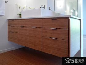 简约风格家装橡木浴室柜图片