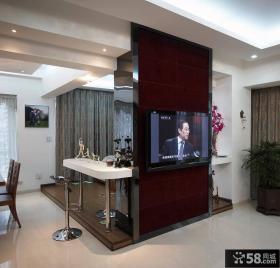 简约三室两厅瓷砖电视背景墙装修效果图