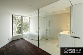 极致简约美式风格装修卫生间图片