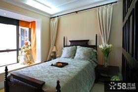 欧式风格卧室飘窗设计实景图