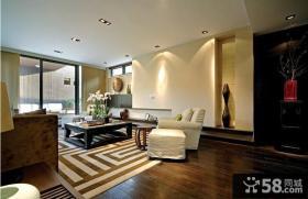新中式风格客厅石膏电视背景墙效果图
