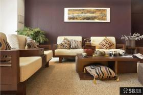 中式实木沙发图片欣赏