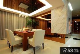 现代中式风格豪华别墅餐厅设计图片