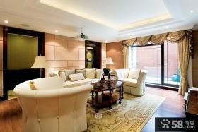 现代美式别墅客厅效果图片