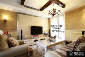 欧式家庭装修客厅电视背景墙效果图