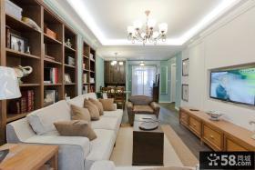 简约欧式客厅装修实景图
