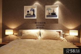 温馨现代卧室壁纸装修效果图