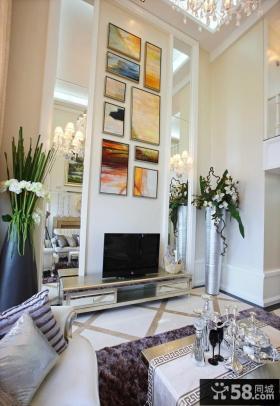 现代简约客厅装饰画贴图