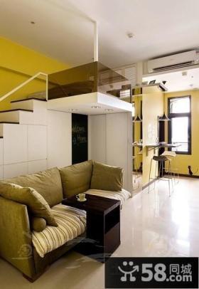现代风格小复式客厅装修效果图大全2012图片