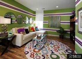 现代风格装修客厅沙发背景墙设计效果图